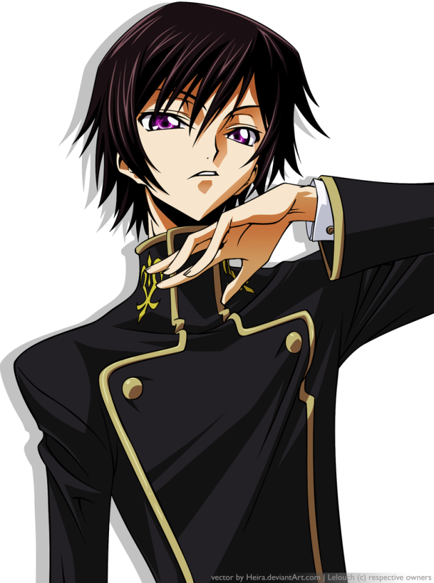 Looking absolutely fabulous there, Lelouch.