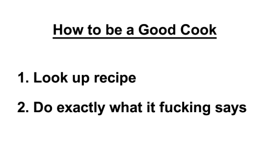 how to be a good cook
