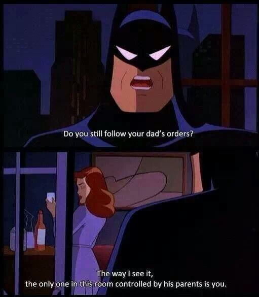 batman gets burned