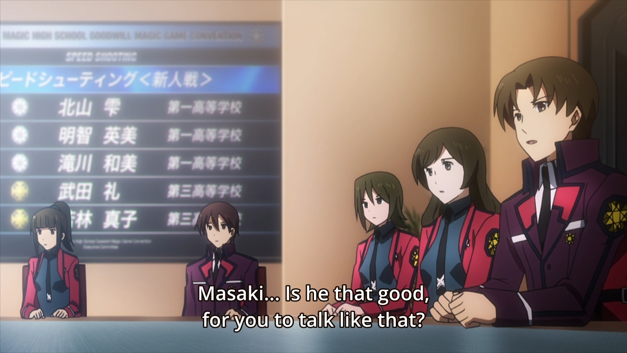 Mahouka Koukou no Rettousei Ep  13: The girls are in first place