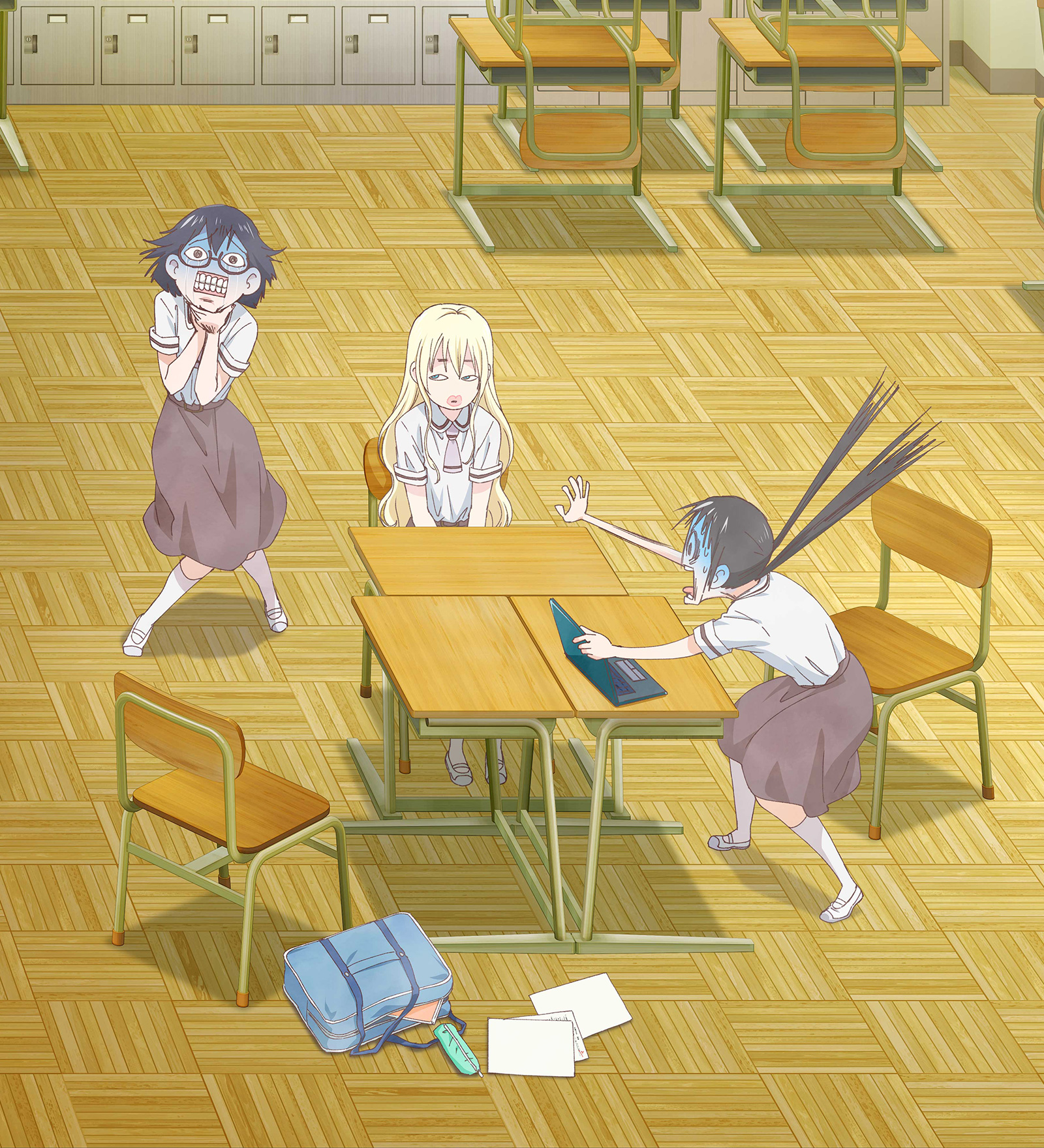 Three Girls Having Fun At School Something About Being A Surreal Gag Comedy Sure Ill Believe It When I See In Any Case Isnt Usually